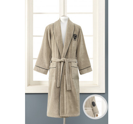 Подарочный набор Soft Cotton Luxure бежевый (халат + полотенца)