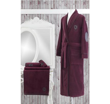 Халат мужской Soft Cotton Luxure (бордовый)