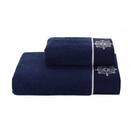 Набор полотенец Soft Cotton Marine Lady (темно-синий, 2 предмета)