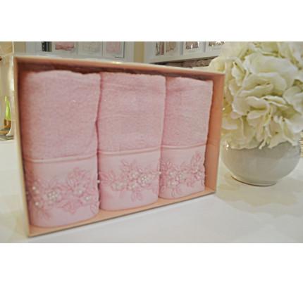 Салфетки Soft Cotton Masal (розовый, 3 предмета) 32x50