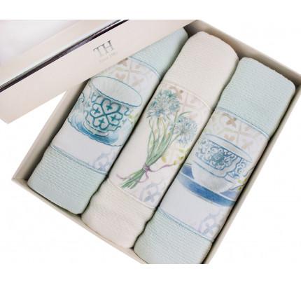 Салфетки для кухни Tivolyo Verona (3 предмета, зеленый) 30x50
