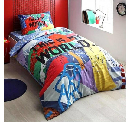 Постельное белье TAC Graffiti My World 1.5-спальное