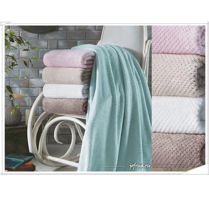 Мягкий флисовый плед Tivolyo Favo Soft (розовый)