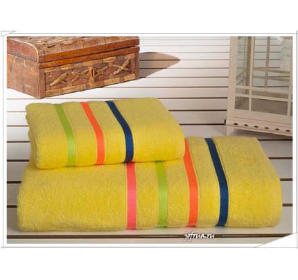 Набор полотенец Karna Bale Neon (желтый, 2 предмета)