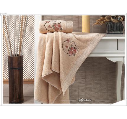 Набор полотенец Karna Demet (абрикосовый, 2 предмета)