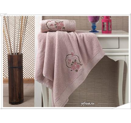 Набор полотенец Karna Demet (розовый, 2 предмета)