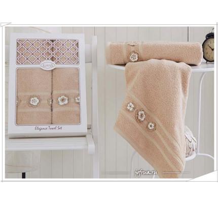 Набор полотенец Karna Elegance (бежевый, 2 предмета)