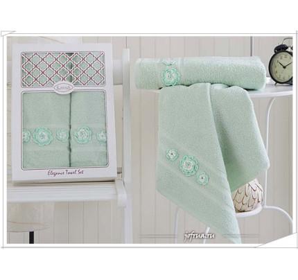 Набор полотенец Karna Elegance (зеленый, 2 предмета)