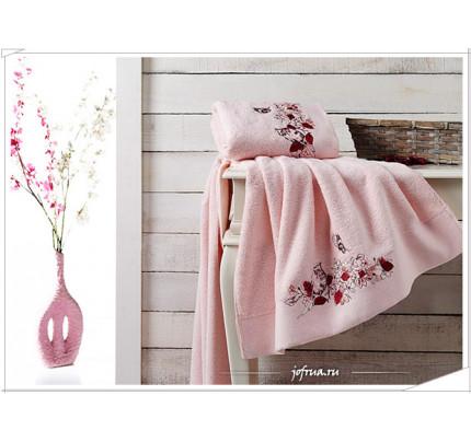 Набор полотенец Karna Eva (розовый, 2 предмета)