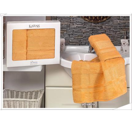 Набор полотенец Karna Premium Bamboo (оранжевый, 2 предмета)