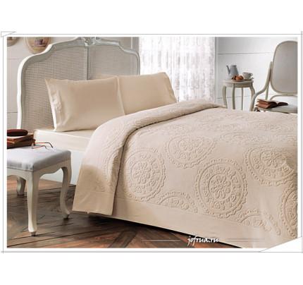Набор с покрывалом Tivolyo Alfredo (бежевый) 2-спальный