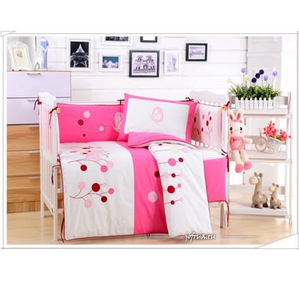 Набор постельного белья в детскую кроватку DK-22 (7 предметов)