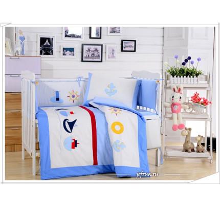 Набор постельного белья в детскую кроватку DK-13 (7 предметов)