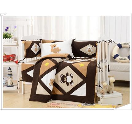 Набор постельного белья в детскую кроватку DK-24 (7 предметов)