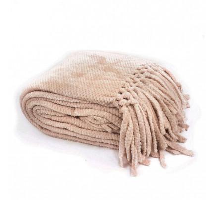 Мягкий флисовый плед Tivolyo Nappa Favo Soft (бежевый)