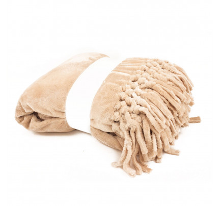 Мягкий флисовый плед Tivolyo Nappa Soft (бежевый)