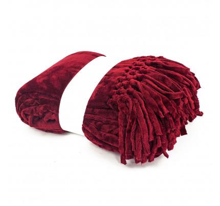 Мягкий флисовый плед Tivolyo Nappa Soft (бордовый)
