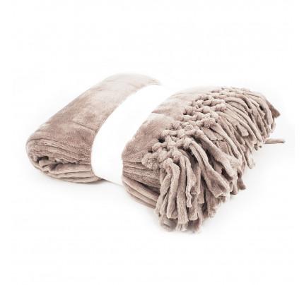 Мягкий флисовый плед Tivolyo Nappa Soft (коричневый)