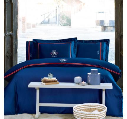 Постельное белье Tivolyo Home Navy (темно-синее)