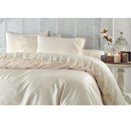 Свадебное постельное белье Gelin Home Neslisah (шампань) евро