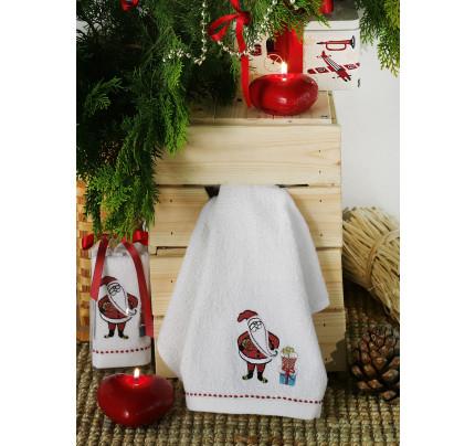 Новогоднее полотенце-салфетка Karna Noel V1 30x50