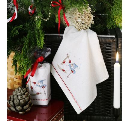 Новогоднее полотенце-салфетка Karna Noel V3 30x50