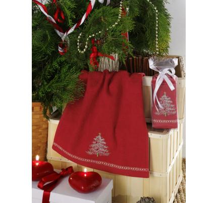 Новогоднее полотенце-салфетка Karna Noel V6 30x50