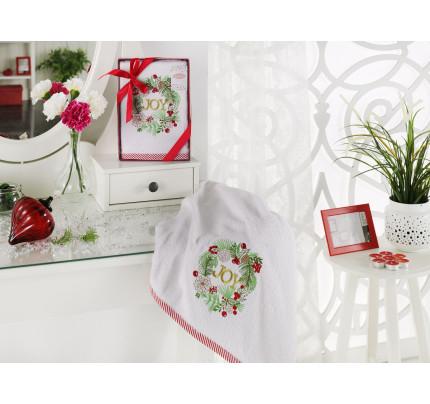 Новогоднее полотенце Karna Noel V6 50x90