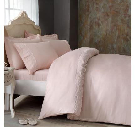 Постельное белье Tivolyo Olivia (розовое) евро