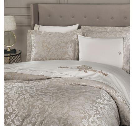 Tivolyo Home Fortuny (кремовый) комплект постельного белья евро