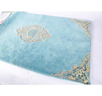 Набор ковриков Karven Olivia бирюзовый (50x60+60x100)