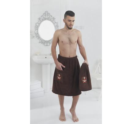 Набор для сауны мужской Karna Pamir (коричневый)