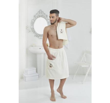 Набор для сауны мужской Karna Pamir (кремовый)