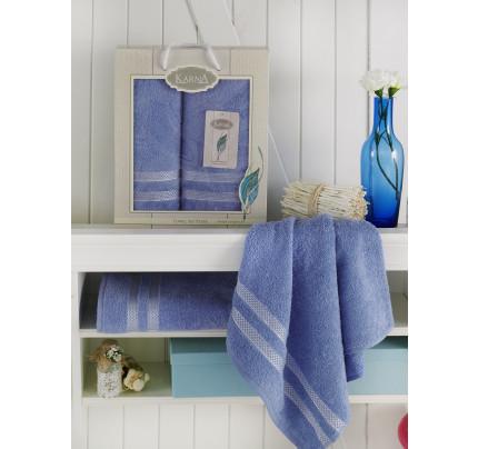 Набор полотенец Karna Petek (голубой, 2 предмета)