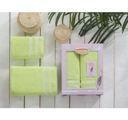 Набор полотенец Karna Petek (зеленый, 2 предмета)