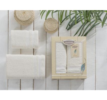 Набор полотенец Karna Petek (кремовый, 2 предмета)