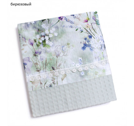 Набор вафельных полотенец Tivolyo Home Polina с кружевом (2 предмета)