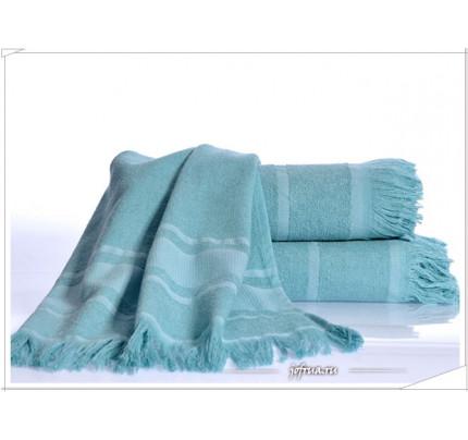 Полотенце Irya Duru (бирюзовое)