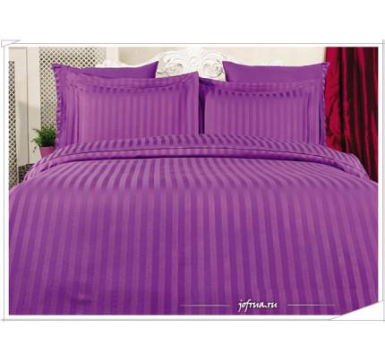 Постельное белье Karna Perla (фиолетовое) евро