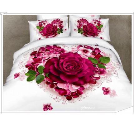 Постельное белье Karven 483 Сердце с розой