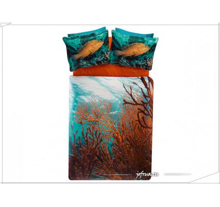 Постельное белье TAC Derin Tutku Coral евро