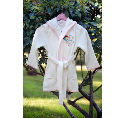 Детский халат Pupilla Kids для девочки (кремовый)