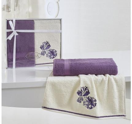 Набор полотенец Karna Rodos (фиолетовый, 2 предмета)
