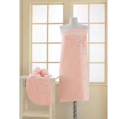 Набор для сауны женский Soft Cotton Ruya (персиковый) размер S-L