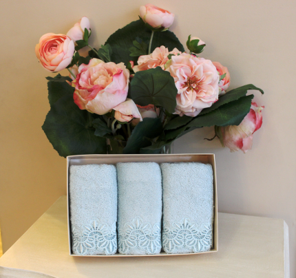 Салфетки Soft Cotton Victoria (бирюзовый, 3 предмета) 32x50