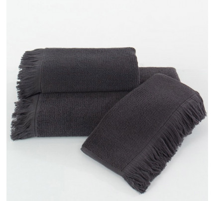 Полотенце Soft Cotton Fringe (антрацит)