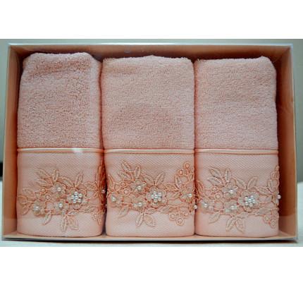 Салфетки Soft Cotton Masal (персиковый, 3 предмета) 32x50
