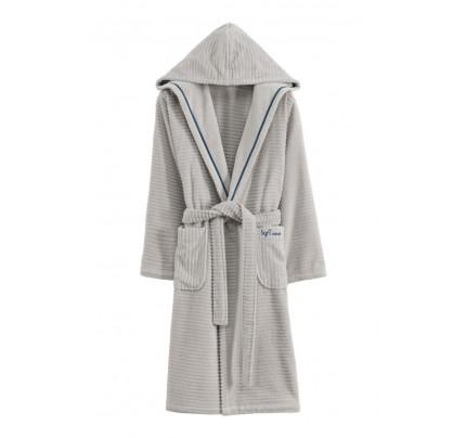 Халат женский Soft Cotton Stripe (серый)