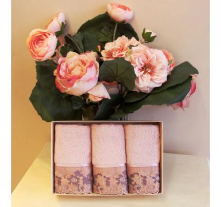 Салфетки Soft Cotton Lalezar (розовый, 3 предмета) 32x50