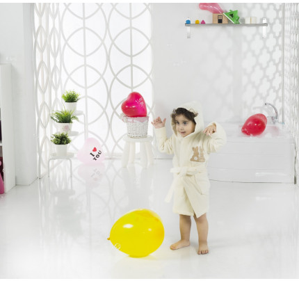 Karna Snop детский халат с капюшоном (кремовый)